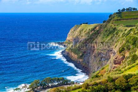 Nature: Picturesque natural view of Sao Miguel island Azores Portugal #03640
