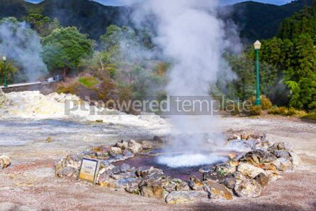 Nature: Hot thermal springs in Furnas Azores Portugal #03643