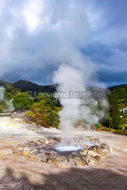 Nature: Hot thermal springs in Furnas Azores Portugal #03644