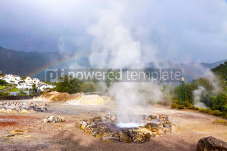 Nature: Hot thermal springs in Furnas Azores Portugal #03645