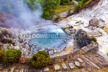Nature: Hot thermal springs in Furnas Azores Portugal #03646