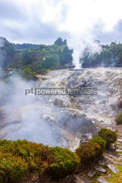Nature: Hot thermal springs in Furnas Azores Portugal #03647