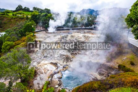 Nature: Hot thermal springs in Furnas Azores Portugal #03648