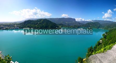 Nature: Panoramic aerial view of Bled Lake Slovenia #03662