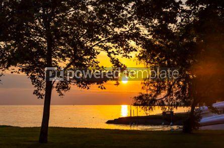 Nature: Sunrise over the Balaton lake Hungaru #03671