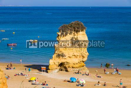 Nature: Praia da Dona Ana beach in Lagos Algarve region Portugal #03673