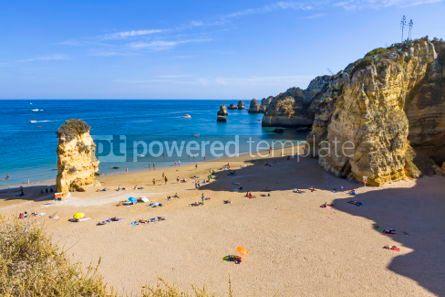 Nature: Praia da Dona Ana beach in Lagos Algarve region Portugal #03674