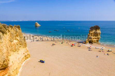 Nature: Praia da Dona Ana beach in Lagos Algarve region Portugal #03675