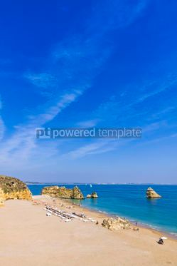Nature: Praia da Dona Ana beach in Lagos Algarve region Portugal #03677