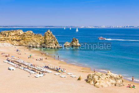 Nature: Praia da Dona Ana beach in Lagos Algarve region Portugal #03678