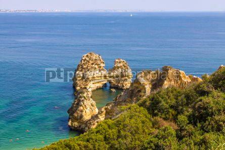 Nature: Praia do Camilo beach in Lagos Algarve region Portugal #03680