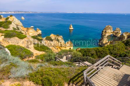 Nature: Praia do Camilo beach in Lagos Algarve region Portugal #03681