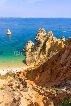 Nature: Praia do Camilo beach in Lagos Algarve region Portugal #03682