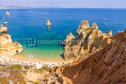 Nature: Praia do Camilo beach in Lagos Algarve region Portugal #03683