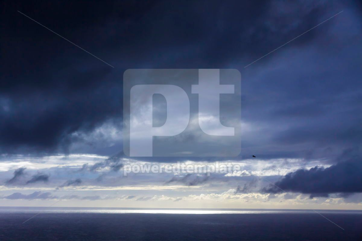 Dramatic sky over Atlantic Ocean coast near Sao Miguel Island A, 03687, Nature — PoweredTemplate.com