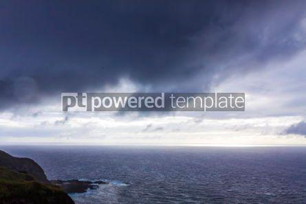 Nature: Dramatic sky over Atlantic Ocean coast near Sao Miguel Island A #03688
