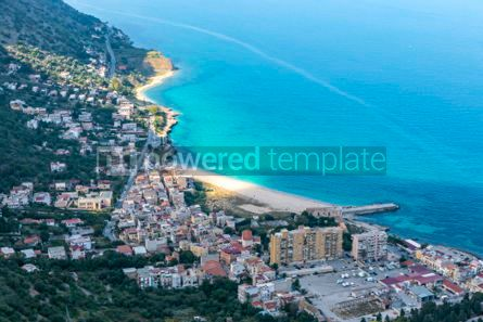 Nature: Aerial view of the Vergine Maria Beach in Palermo Sicily Italy #03690