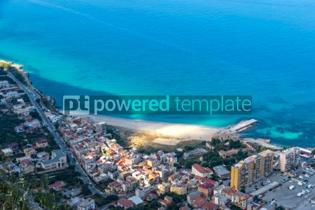 Nature: Aerial view of the Vergine Maria Beach in Palermo Sicily Italy #03691