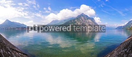 Nature: Panoramic view of Como Lake in Lecco city Italy #03697