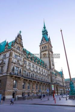 Architecture : Hamburg City Hall. Market square (Rathausmarkt) Hamburg German #03701