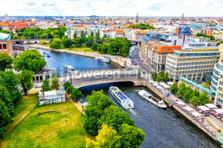 Architecture : Aerial view of Spree River in Berlin city Germany #03710