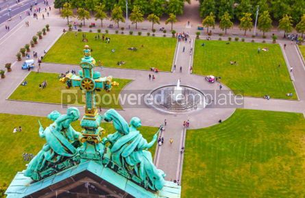 Architecture : Aerial view of Lustgarten near Berliner Dom Berlin Germany #03711