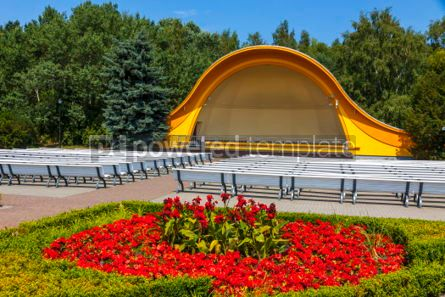 Architecture : Concert Shell on the Swinoujscie promenade Poland #03714