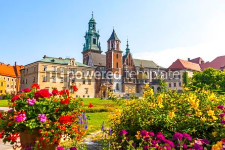 Architecture : Summer view of Wawel Royal Castle complex in Krakow Poland #03717