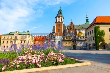 Architecture : Wawel Cathedral in Krakow Poland #03720