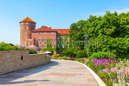 Architecture : Sandomierska Tower Wawel Royal Castle complex in Krakow Poland #03722