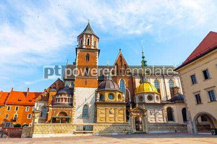 Architecture : Wawel Cathedral in Krakow Poland #03723