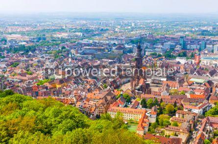 Architecture : Aerial view of Freiburg im Breisgau Germany #03724