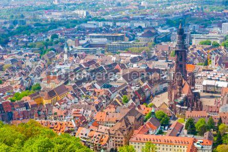 Architecture : Aerial view of Freiburg im Breisgau Germany #03725