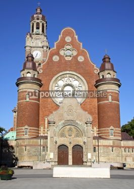 Architecture: Facade of St Johannes Church in Malmo Sweden #03727