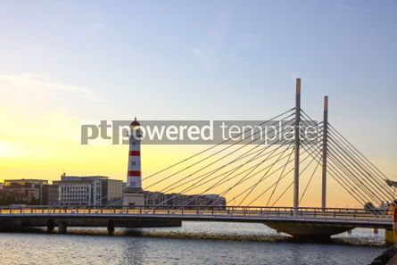 Architecture : Old lighthouse in Oresund strait Malmo city harbor Sweden #03728