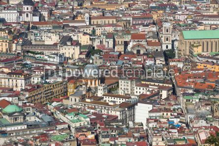 Architecture : Rooftops of Naples old town Italy #03735