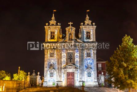 Architecture: Facade of Church of Saint Ildefonso in Porto city Portugal #03736