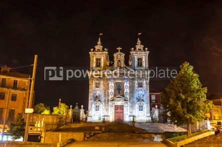Architecture : Facade of Church of Saint Ildefonso in Porto city Portugal #03737