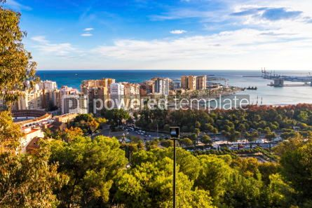 Architecture : Skyline aerial view of Malaga city Andalusia Spain #03740