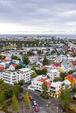 Architecture : Aerial view of Reykjavik city Iceland #03746