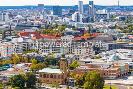 Architecture : Aerial view of Tiergarten district of Berlin Germany #03751