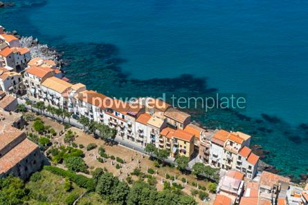 Architecture : Aerial view of Cefalu old town Sicily Italy #03755