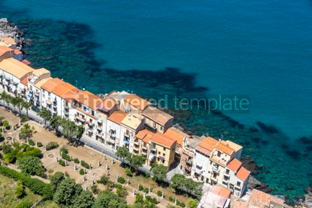 Architecture : Aerial view of Cefalu old town Sicily Italy #03756