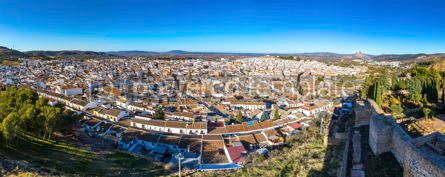 Architecture : Panoramic view of Antequera city province of Malaga Andalusia #03757