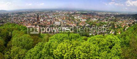 Architecture : Panoramic view of Freiburg im Breisgau city Germany #03761