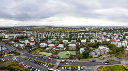 Architecture : Panoramic aerial view of Reykjavik city Iceland #03763