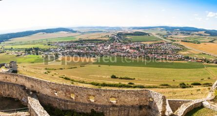 Architecture: Panoramic view of Spisske Podhradie town Slovakia #03764