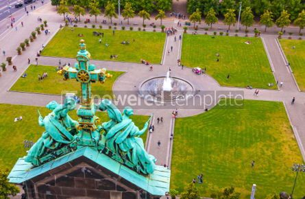 Architecture : Aerial view of Lustgarten near Berliner Dom Berlin Germany #03804