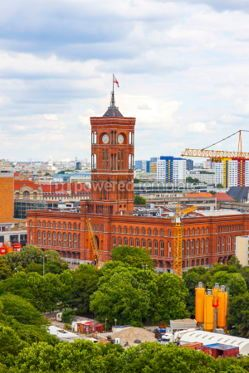 Architecture : Tower of Berlin City Hall (Rotes Rathaus) Germany #03805