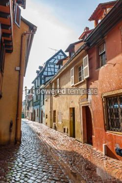 Architecture : Street in Colmar city Alsace France #03806